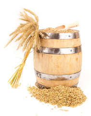 harvest grain barrel