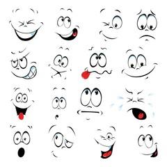 Gesichter ~ Smiley ~ Kopf ~ Auge ~ Nase ~ Mund - Megaset