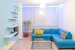 Interior design with different colors of lighting