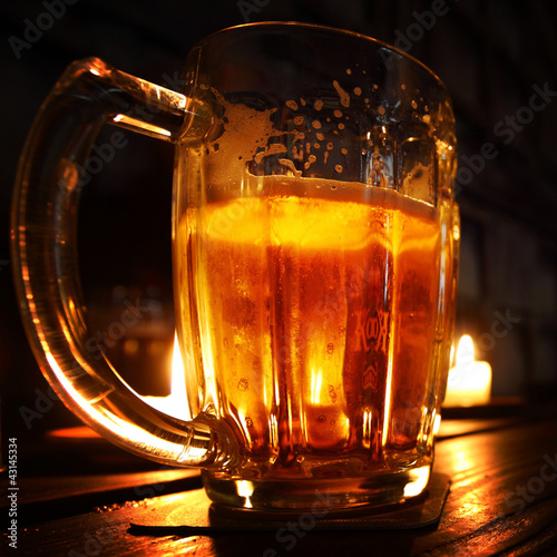beer in dark