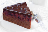 Chocolate blackcurrant cake
