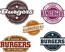 Weinlese-Burger Briefmarken