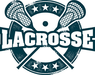 Vintage Lacrosse Stamp