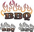 Barbecuw BBQ Flame Graphic