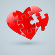 Conceptual Heart Vector Design. Creative Idea of Romantic Relati
