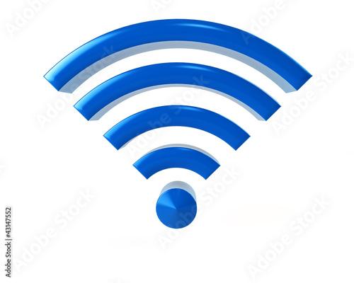 Blaues WIFI-Symbol