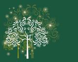 Green tribal tree
