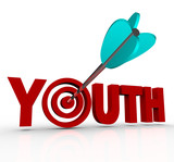 Youth Word Arrow in Target Stay Young Stop Aging poster