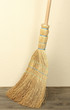 Broom on floor in room