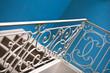 Escalier, fer forgé, rampe, architecture, intérieur, maison