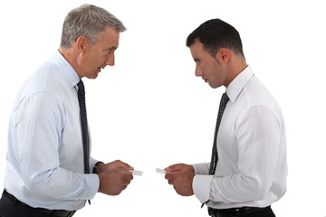Businessmen arguing