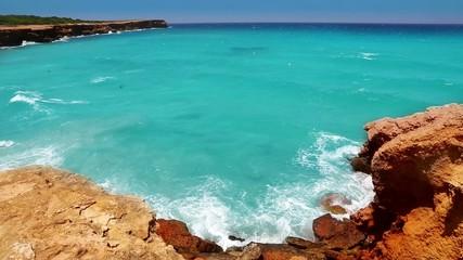 Cala Saona in Formentera Balearic island near Ibiza