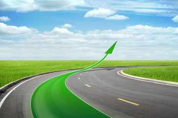 Abstract Business Growth - green arrow up