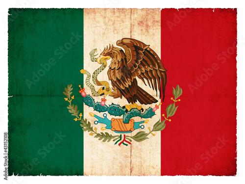 Grunge-Flagge Mexiko