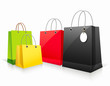 Shopping collection colorful paper bag empty, vector
