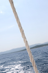 rope on the ship