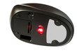 Computer wireless mouse with a glowing laser.