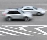 Road markings and cars. Abstract background.