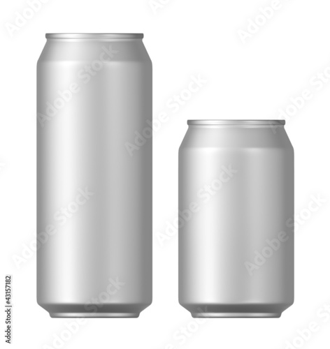 beer cans on a white background