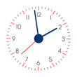 clock face on a white background
