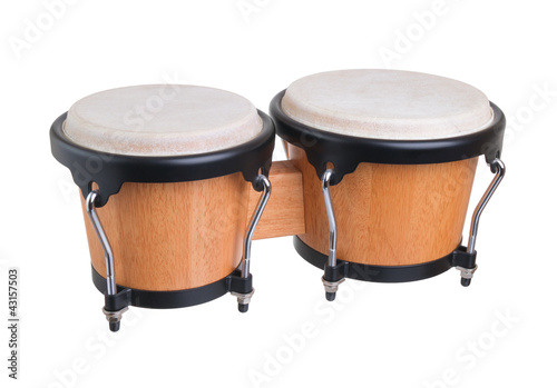 bongos on a white background