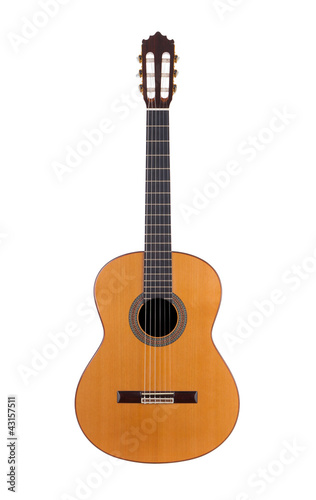 acoustic guitar on white background - 43157511