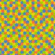 Puzzle Muster Hintergrund BUNT - endlos