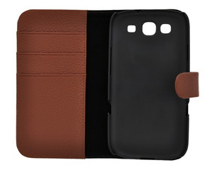 Brown Leather Case For Samsung Galaxy S III