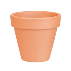 Flower pot on white background