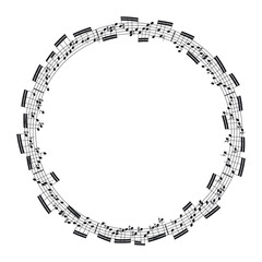 music notes in the form of a circle