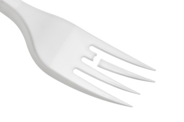 Plastic fork with a broken tooth