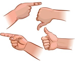 Set of hand pointers