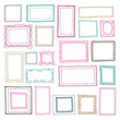 Seamless photo frame set pattern in vector