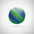 Logo spherical letter S, in glass # Vector