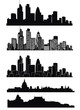 Vector of London skyline