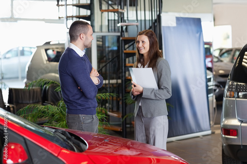 Man speaking to a woman