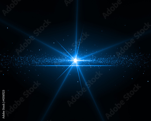 Background with a blue star
