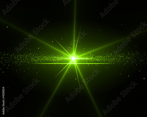 Background with a green star