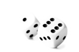 Two black and white dices
