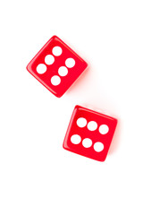 Dices designating a six number