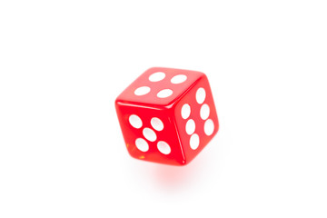 Red dice moving