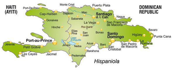 Übersichtskarte von Haiti und Dom. Rep.