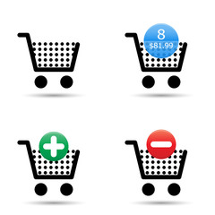 Shopping cart icons set. EPS10.