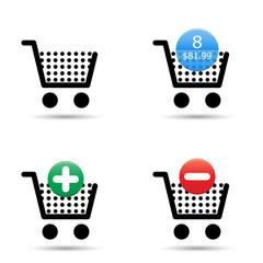 Shopping cart icons set. EPS10.