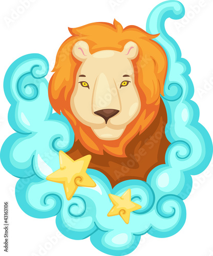 Zodiac signs - Lion vector Illustration
