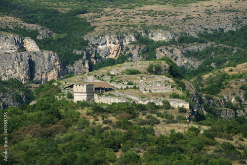 View over the Cherven fortress, Bulgaria