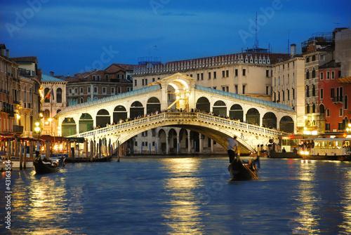 Plexiglas Venetie Rialto Bridge Venice