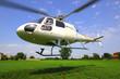 canvas print picture - Hubschrauber Start