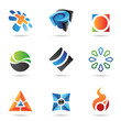 Various colorful abstract icons, Set 22
