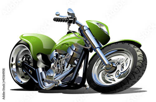 Staande foto Motorfiets Vector Cartoon Motorcycle